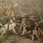 """92. Степанов Алексей """"Охота на волка"""" 1900-е Собрание Ю.М. Носова"""