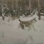 """95. Степанов Алексей """"Рыси"""" 1910-е Частное собрание"""