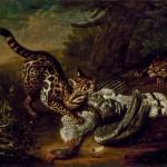 """Иоганн Фридрих Гроот """"Дикие кошки"""" 1763"""