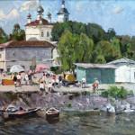 "М.С. Агеев ""Набережная Плёса. Пристань"" 1987"