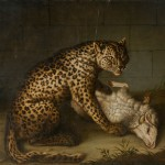 """Иоганн Фридрих Гроот """"Леопард с ягненком"""" 1773"""