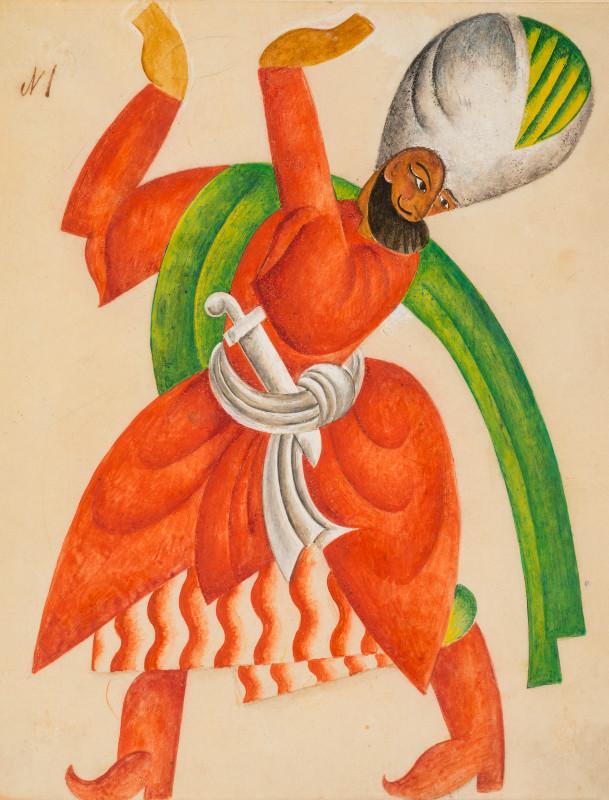 """Павел Челищев """"Эскиз театрального костюма"""" 1920"""