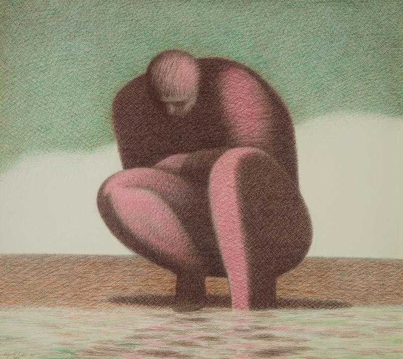 """Гариф Басыров """"Нарцисс. Серия """"Обитаемые пейзажи"""" 1991"""