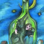 """Дарья Герасимова """"Иллюстрация к книге Олега Кургузова """"Наш кот Ц инопланетянин"""""""