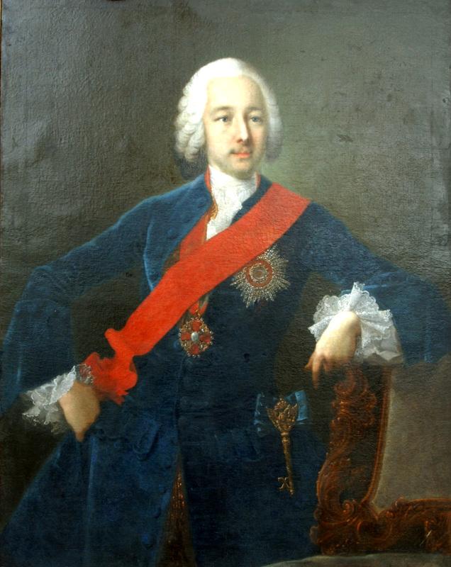 """Георг Христоф Гроот """"Портрет графа Петра Борисовича Шереметева"""" 1747"""