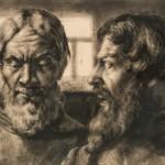 "Борис Шаляпин ""Двойной портрет Фёдора Шаляпина"" 1929"