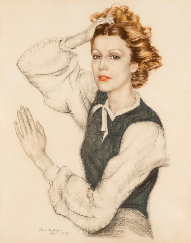 """Борис Шаляпин """"Портрет Марии Шаляпиной-Карпиловской"""" 1935"""