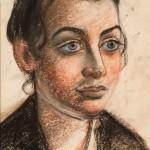 """Давид Бурлюк """"Портрет Марии Бурлюк"""" 1920-е годы"""