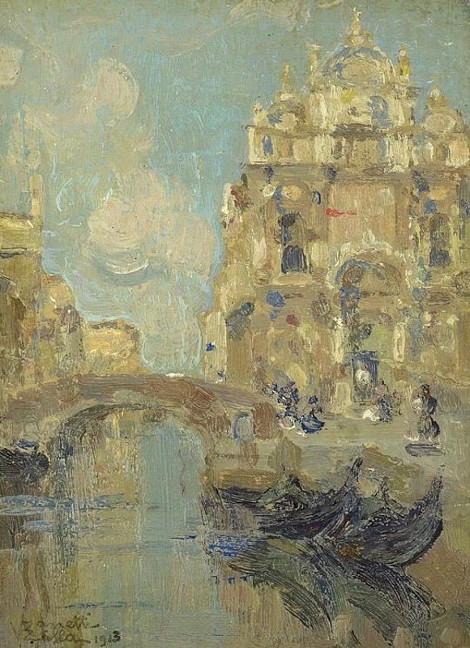 Витторе Дзанетти-Дзилла «Скуола ди Сан Марко в Венеции» Рубеж 19-20 веков.