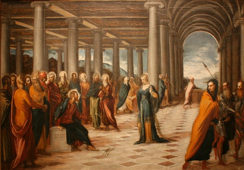 """Якопо Тинторетто """"Христос и грешница"""" Около 1545-1548"""