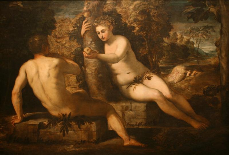 """Якопо Тинторетто """"Грехопадение Адама и Евы"""" Около 1550-1551"""