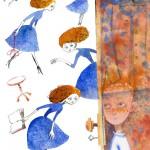"""Вера Цепилова """"Иллюстрация к книге Натальи Евдокимовой """"Космический объект карманного объема"""""""