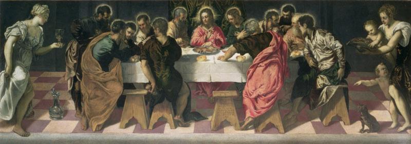 """Якопо Тинторетто """"Тайная вечеря"""" 1547"""