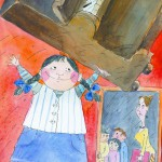 """Елена Блинова """"Иллюстрация к книге Артура Гиваргизова """"Со шкафом на велосипеде"""""""
