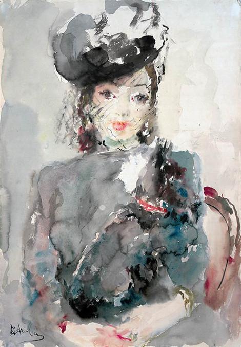 Артур Фонвизин «Портрет Люции Юмашевой» 1945 Калужский художественный музей