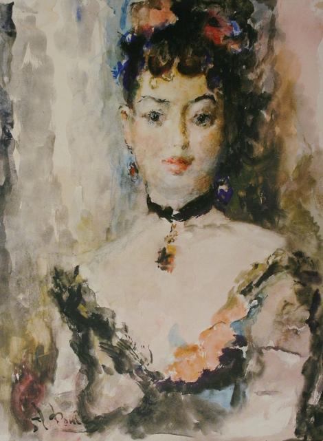 Артур Фонвизин «Портрет балерины Люции Юмашевой» 1949 Частное собрание
