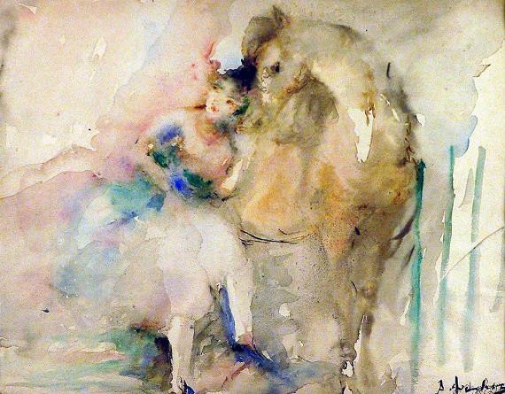 Артур Фонвизин «Цирк. Наездница» 1936 Калужский художественный музей