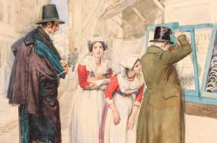 Конец прекрасной эпохи. Рисунок первой половины XIX века.