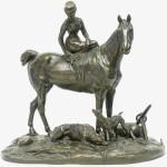 """Е.А. Лансере """"Большая амазонка (на коне Гунтер)"""" Модель 1885"""