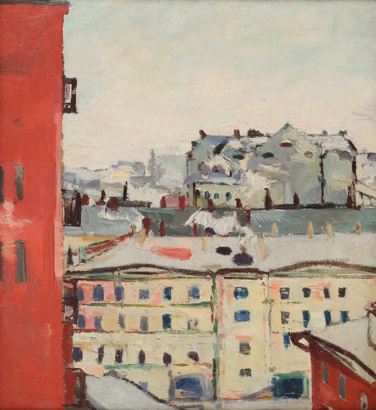 """Константин Истомин """"Вид из окна"""" Конец 1920-х - начало 1930-х"""