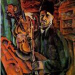 """Аристарх Лентулов """"Автопортрет со скрипкой"""" 1919"""