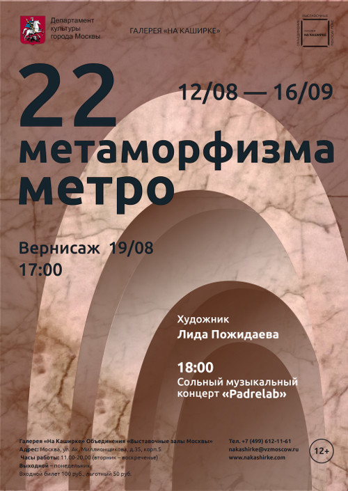 Лидия Пожидаева. 22 метаморфизма метро.