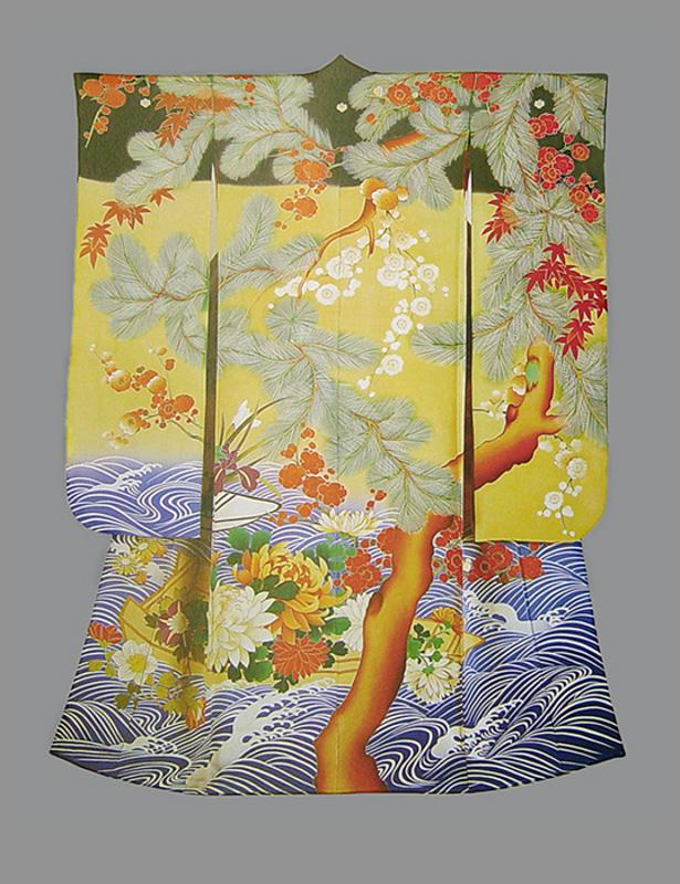 Кимоно для молодой женщины. Япония, 1910-1926