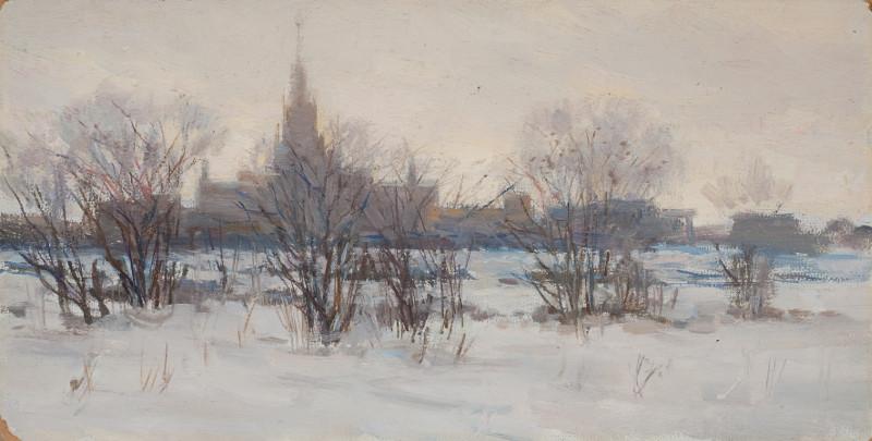 """Константин Дорохов """"Москва. Университет"""" 1953"""
