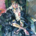 """Аристарх Лентулов """"Портрет актрисы Ольги Владимировны Гзовской (1883 — 1962)"""" 1918"""