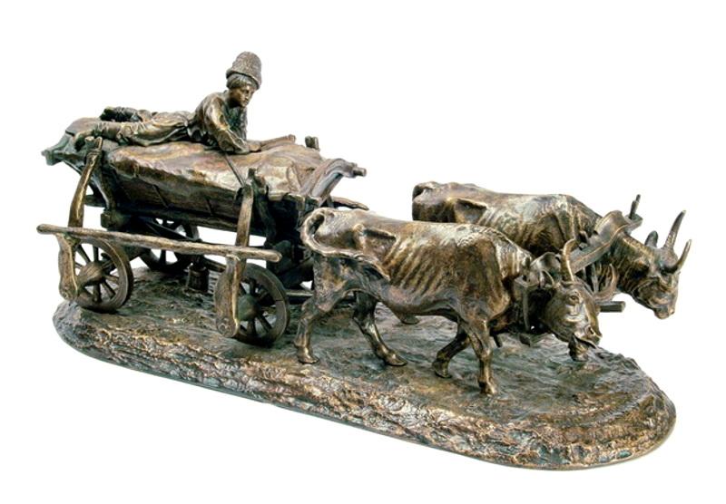 """Е.А. Лансере """"Чумак с возом"""" Модель 1870"""