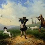 """П.И. Солдаткин """"На охоте"""" 1848"""