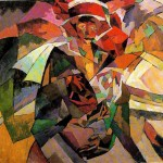 "Аристарх Лентулов ""Портрет М.П. Лентуловой с розами"" 1913"