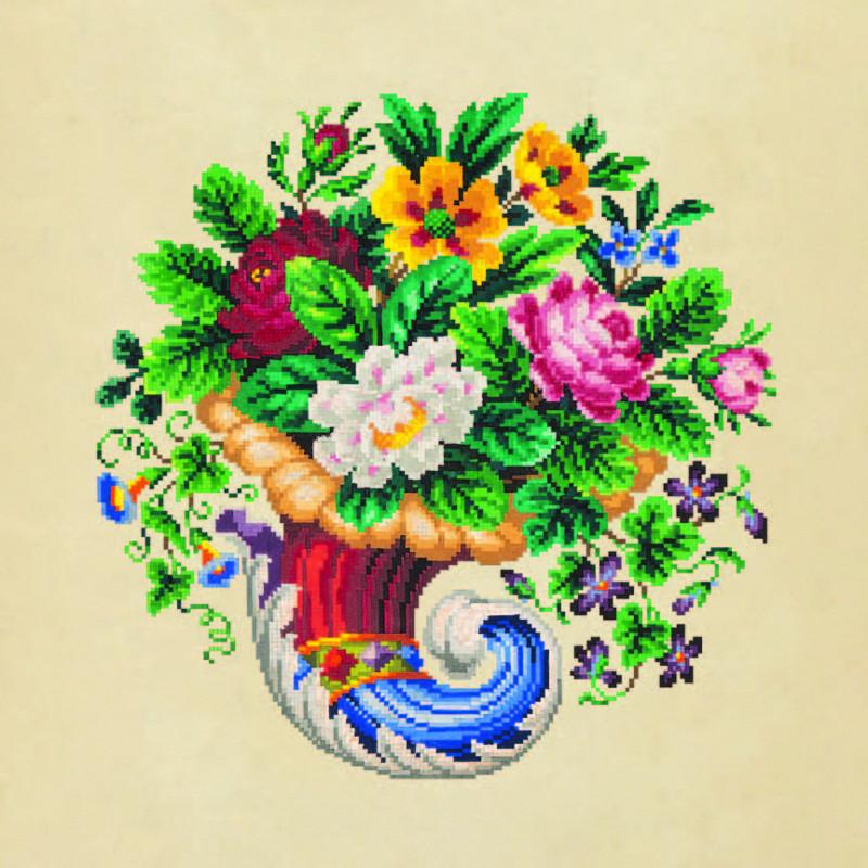 Рог изобилия с цветами