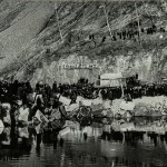 """""""Енисей покорен"""". Фотография, Дивногорск. 25 марта 1963"""