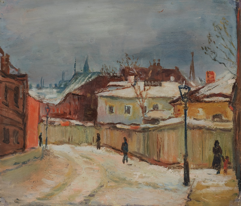 """Евгений Окс """"Старомосковский переулок"""" 1934"""