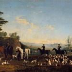 """Неизвестный художник """"Сцена охоты"""" 1-я половина 19 века"""