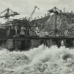 """""""Вид на водобой"""". Фотография, Дивногорск. 1964"""