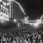 """Михаил Грачев """"Улица Горького"""" Москва, 1947"""