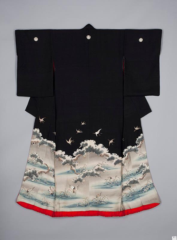Верхнее кимоно для женщины. Япония, 1880-1900-е