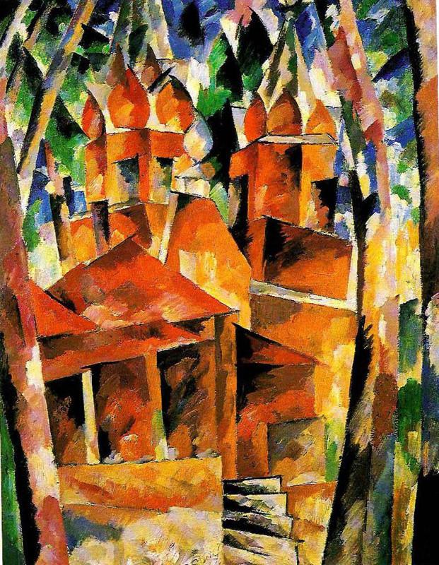 Аристарх Лентулов «Деревянная церковь» 1918