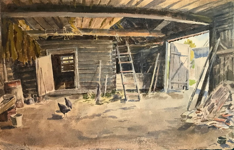 """Н.Е. Лансере """"Двор. Островки на Неве"""" 1934"""