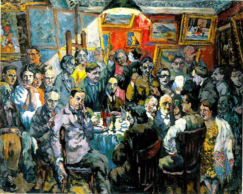 """Аристарх Лентулов """"Московские художники. Эскиз"""" 1927"""