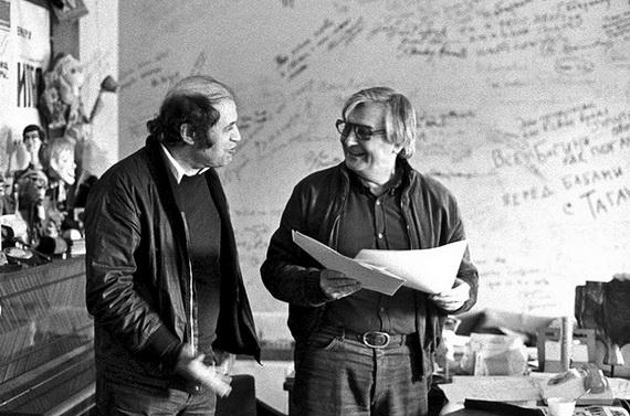 Давид Боровский и Юрий Любимов. Фото И. Пальмина.