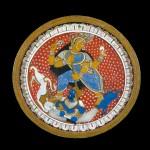 Поднос с изображением Дурги Махишасурамардини