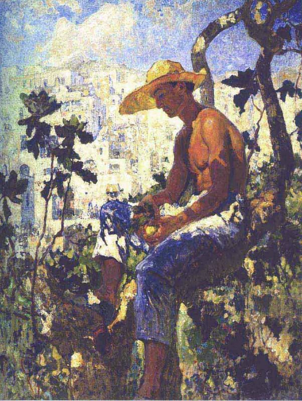 """Константин Горбатов """"Итальянский садовник"""" 1926"""