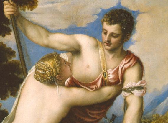 Тициан Вечелио «Венера и Адонис» Москва, благотворительный фонд «Классика» (фрагмент)
