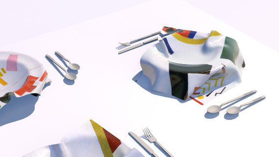 3D-модель обеденного сервиза. AE kids, 2017