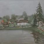 """А.И. Бабин """"Пруд в Покровке"""" 2017"""