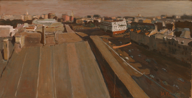 """И.А. Полиенко """"Вид на Сухаревскую площадь"""" 2011"""