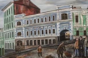 Позади Москва. Московский городской пейзаж.